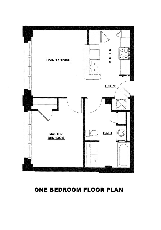 Floor Plans For One Bedroom Loft Apartment At Mason Estates
